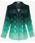 Equipment Exclusive Ombre Python Print Chiffon Blouse - Lyst