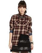BCBGeneration Plaid Buttonup Shirt - Lyst