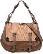 Abaco Leather Bag Jamily Python - Lyst