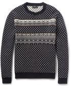 A.P.C. Fair Isle Merino Wool Sweater - Lyst