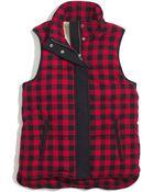 Madewell Fireside Vest In Buffalo Plaid - Lyst