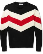 Ovadia And Sons Striped Knitted Cotton Sweater - Lyst