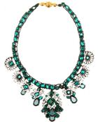 Shourouk Holy Emerald Embellished Necklace - Lyst