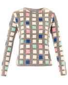 Chinti & Parker Grid Cashmere Sweater - Lyst