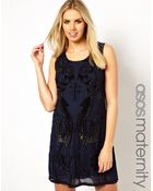 Asos Maternity Exclusive Embellished Shift Dress - Lyst