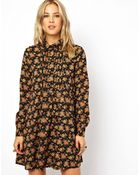 Asos Shirt Dress In Floral Print - Lyst