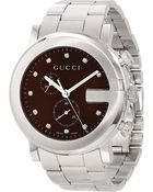 Gucci G-chrono Collection Stainless Steel Watch - For Men - Lyst