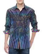 Robert Graham Laserstripe Multiprint Sport Shirt - Lyst