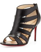 Christian Louboutin Beauty K Redsole Cage Sandal Black - Lyst
