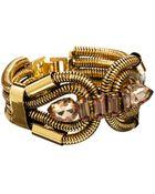 Asos Designsix Snake Chain Link Bracelet - Lyst