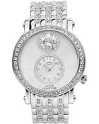 Juicy Couture Women'S Crystal-Accented Stainless Steel Bracelet Watch 42Mm 1901072 - Lyst