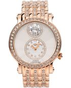 Juicy Couture Women'S Crystal-Accented Rose Gold-Tone Stainless Steel Bracelet Watch 42Mm 1901074 - Lyst