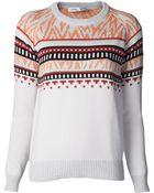 Proenza Schouler Intarsia Sweater - Lyst
