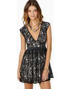 Nasty Gal Grand Entrance Lace Dress - Lyst