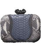 Khirma Eliazov Batasha Python Stingray Clutch Bag Natural gray - Lyst