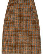 Marni Wool blend Tweed Pencil Skirt - Lyst