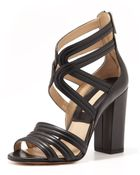 Michael Kors Preston Strappy Leather Sandal - Lyst