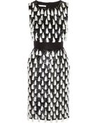 Oscar de la Renta Tasseled Sequined Silk Dress - Lyst