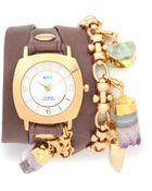 La Mer Collections Topanga Removable Crystal Wrap Watch - Lyst