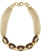 Michael Kors Chainlink Toggle Necklace Golden - Lyst