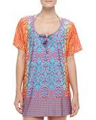 Nanette Lepore Paso Robles Multi-Pattern Short Dress - Lyst