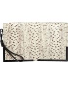 3.1 Phillip Lim Snakeskin paneled Scout Clutch - Lyst