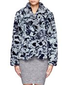 Armani Printed Rabbit Fur Jacket - Lyst