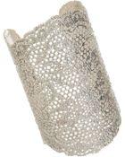 Aurelie Bidermann Silver Large Lace Cuff - Lyst