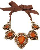 Lanvin Crystal Babylon Short Necklace - Lyst