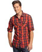 Inc International Concepts Core Long Sleeve Ramirez Plaid Shirt - Lyst