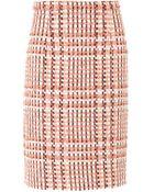 Oscar de la Renta Bicolour Tweed Skirt - Lyst