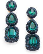 Oscar de la Renta Jewel Drop Clipon Earrings - Lyst