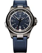Victorinox Mens Night Vision Stainless Steel Watch With Rubber Strap - Lyst