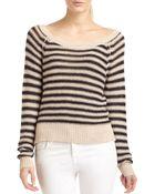BCBGMAXAZRIA Risa Striped Knit Raglan Sweater - Lyst