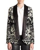 Haute Hippie Embroidered Silk Blazer - Lyst