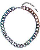 Topshop Chunky Pearl Metallic Chain - Lyst