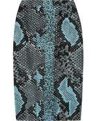 Antonio Berardi Pythonjacquard Pencil Skirt - Lyst