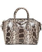 Givenchy Small Antigona Anaconda Snake Bag - Lyst