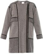 Rebecca Taylor Leathertrim Tweed Coat - Lyst