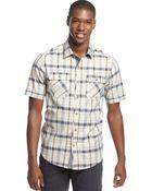 Sean John Big Tall Short Sleeve Check Shirt - Lyst
