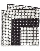 Canali Medallion Silk Pocket Square - Lyst