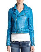 Rebecca Minkoff Wolf Leather Moto Jacket - Lyst