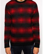 Native Youth Logger Check Knitted Sweater - Lyst