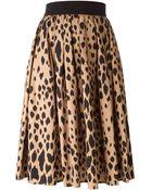Fausto Puglisi Leopard Print Skirt - Lyst