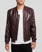 BLK DNM Leather Bomber Jacket - Lyst
