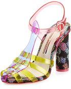 Sophia Webster Rosa Jelly Pineapple Sandal - Lyst