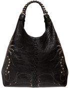 Roberto Cavalli Regina Studded Nappa Leather Hobo Bag - Lyst