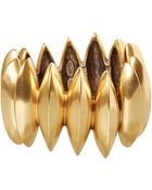 Oscar de la Renta Gold-Tone Disk Bracelet - Lyst