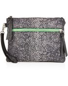 Topshop Stingray Leather Clutch Bag - Lyst