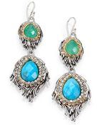 Alexis Bittar Elements Cholulian Turquoise, Chrysoprase & Crystal Feather Drop Earrings - Lyst